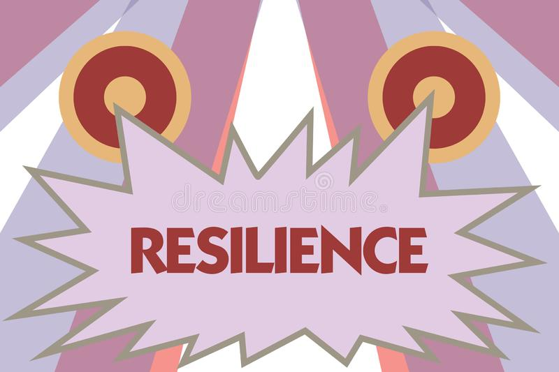 Conceptual hand writing showing Resilience. Business photo showcasing Capacity to recover quickly from difficulties. Persistence vector illustration