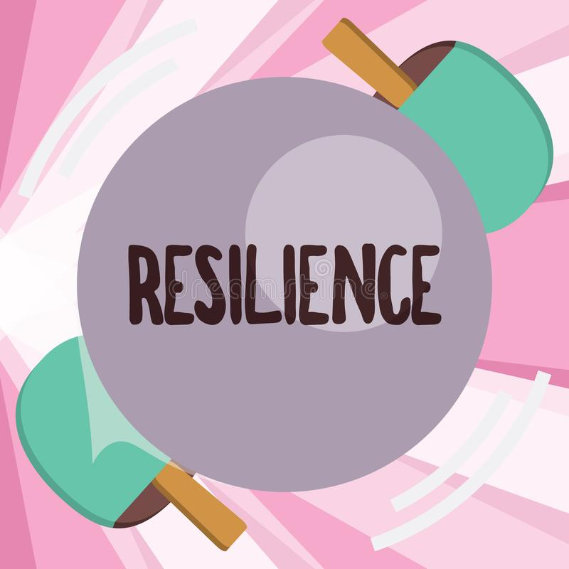 Conceptual hand writing showing Resilience. Business photo showcasing Capacity to recover quickly from difficulties. Persistence royalty free illustration