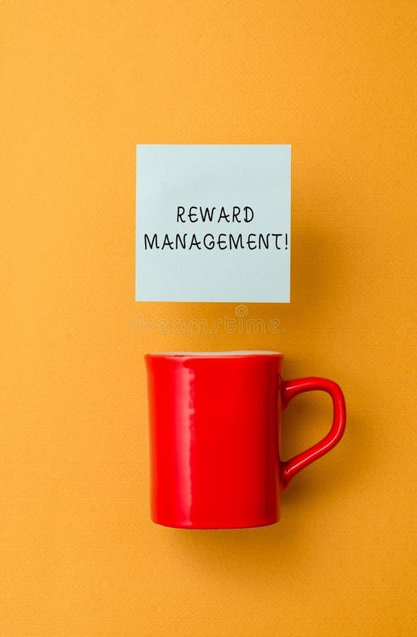 Conceptual hand writing showing Reward Perforanalysisce. Business photo text Appraisal Recognize workers Relative Worth. Conceptual hand writing showing Reward stock image
