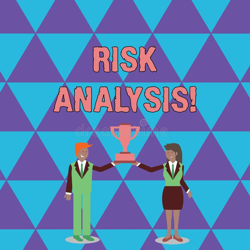 Conceptual hand writing showing Risk Analysis. Business photo text review of the risks associated with a particular. Conceptual hand writing showing Risk vector illustration