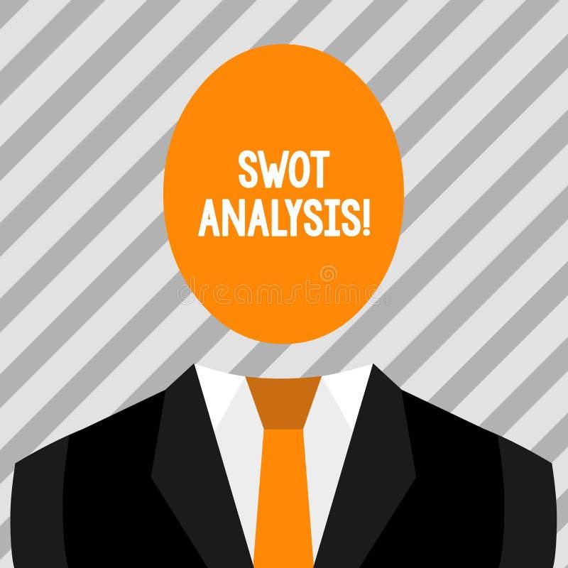 Conceptual hand writing showing Swot Analysis. Business photo showcasing framework used to evaluate a company s is. Conceptual hand writing showing Swot Analysis stock illustration