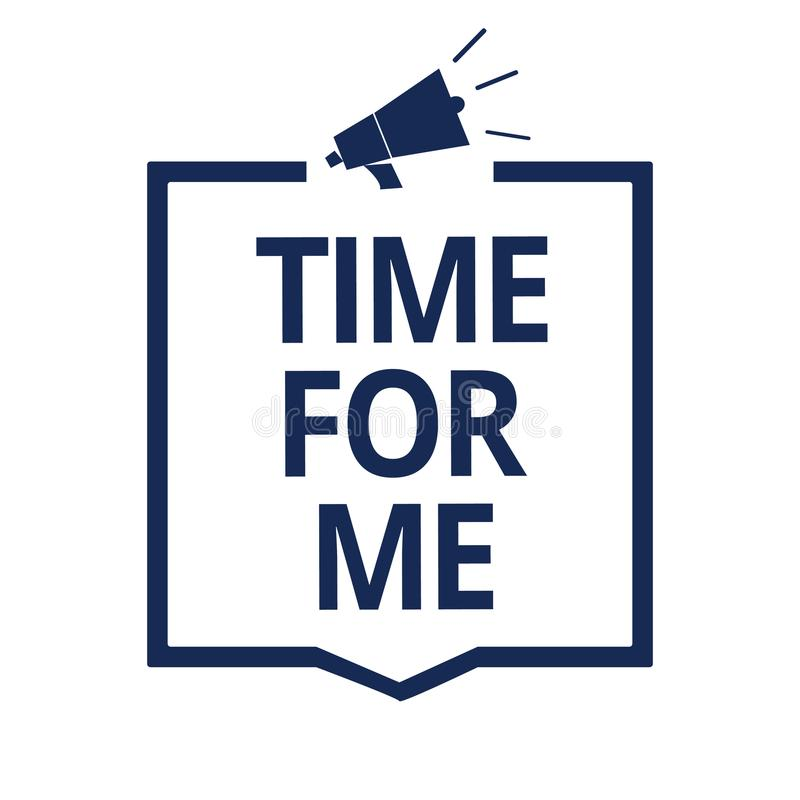 Free Conceptual Hand Writing Showing Time For Me. Business Photo Text I Will Take A Moment To Be With Myself Meditate Relax Happiness M Stock Photography - 123888562