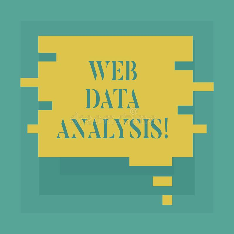 Conceptual hand writing showing Web Data Analysis. Business photo showcasing measurement collection analysis and. Reporting of site Speech Bubble in Puzzle royalty free illustration