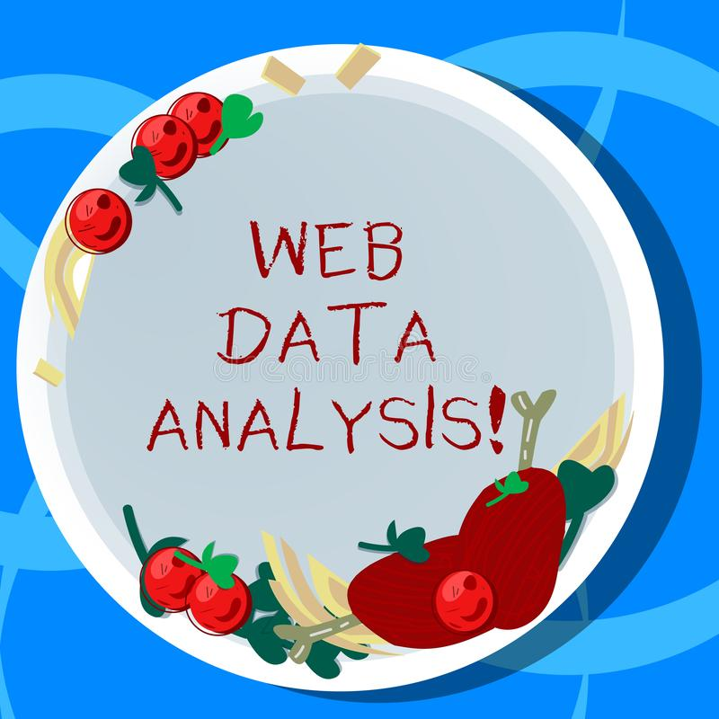 Conceptual hand writing showing Web Data Analysis. Business photo showcasing measurement collection analysis and. Reporting of site Hand Drawn Lamb Chops Herb vector illustration