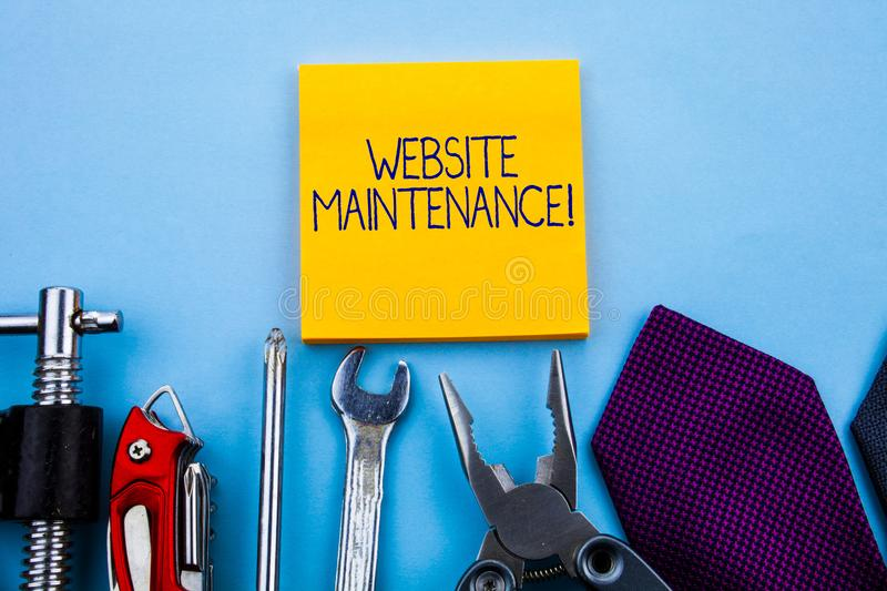 Conceptual hand writing showing Website Maintenance. Business photo showcasing act of regularly checking your website. Conceptual hand writing showing Website stock images