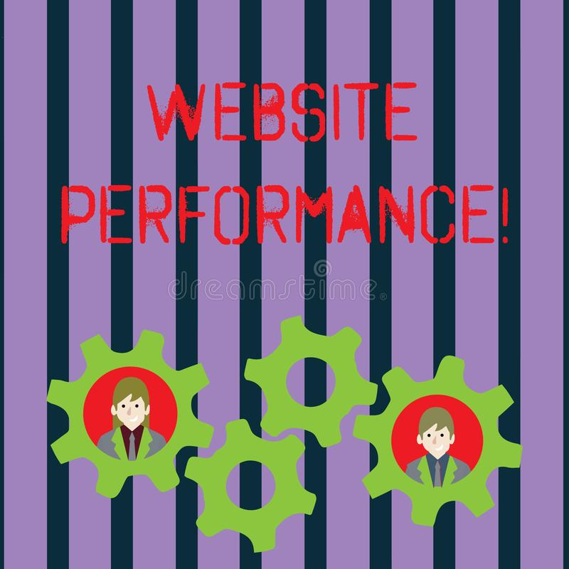 Conceptual hand writing showing Website Perforanalysisce. Business photo showcasing measurement analysis and reporting. Conceptual hand writing showing Website royalty free illustration
