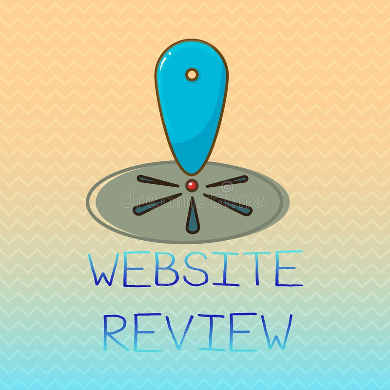 Conceptual hand writing showing Website Review. Business photo showcasing Reviews that can be posted about businesses and services.  royalty free illustration