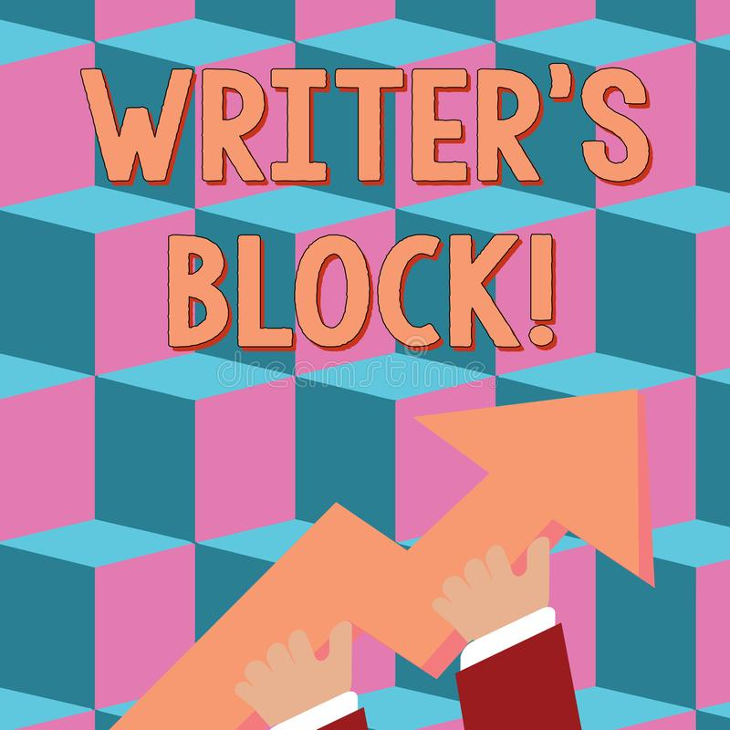 Conceptual hand writing showing Writer S Is Block. Business photo text condition of being unable to make a piece of. Conceptual hand writing showing Writer S Is vector illustration