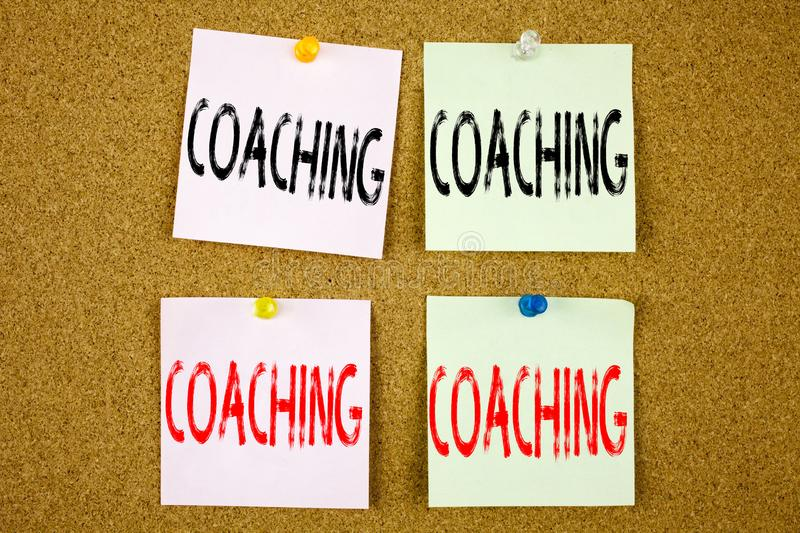 Conceptual hand writing text caption inspiration showing Coaching Business concept for Personal Training Mentoring on stock photography