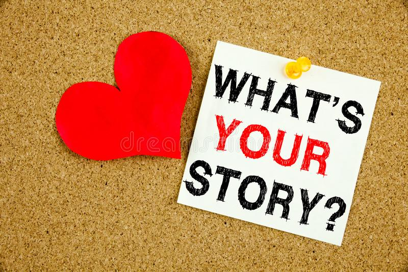 Conceptual hand writing text caption inspiration showing Question What Is Your Story concept for Share Storytelling Experience and royalty free stock photos