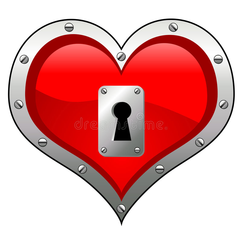 Download Conceptual heart stock vector. Image of hole, metal, bolt - 1883835
