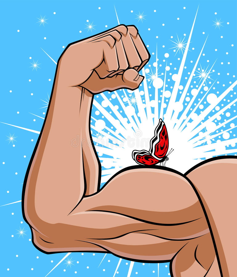 Gentle strength vector illustration