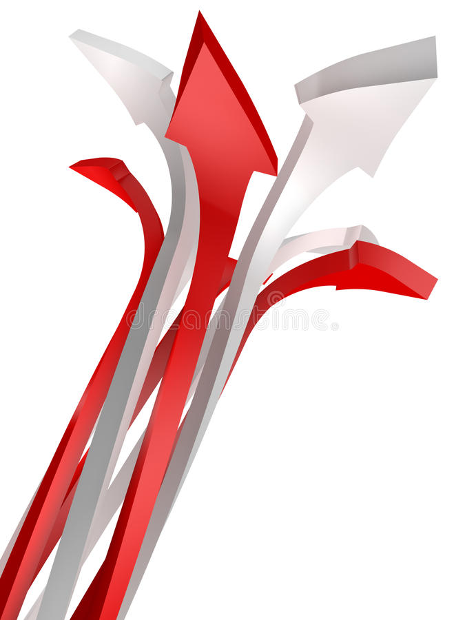 Download Conceptual Image Of Arrow Isolated On White Stock Illustration - Illustration: 13537260