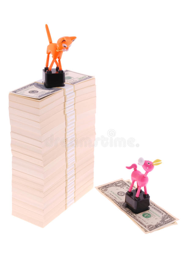 The conceptual image. `Be able to earn`. Dexterous earns. Isolated on white royalty free stock photos