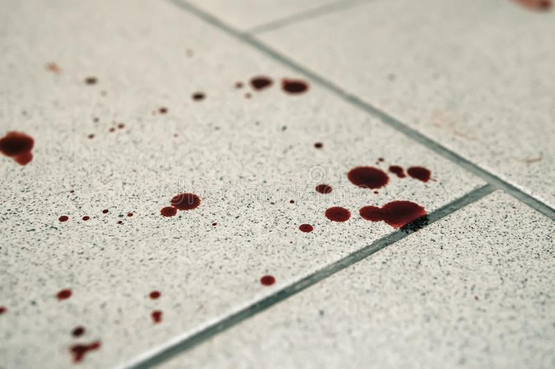 Conceptual Image With Blood On It Resting On Tiles On Floor Stock Image -  Image of decoration, fluid: 149920431