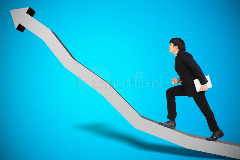 Conceptual image of business progress. Or growth royalty free stock image