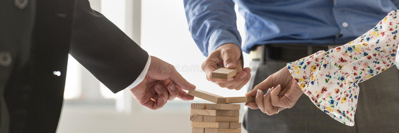 Conceptual image of business start up and teamwork royalty free stock photos