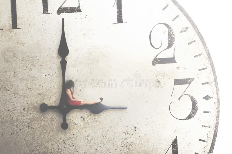 Conceptual image of a business woman resting during the break. A conceptual image of a business woman resting during the break royalty free stock photography