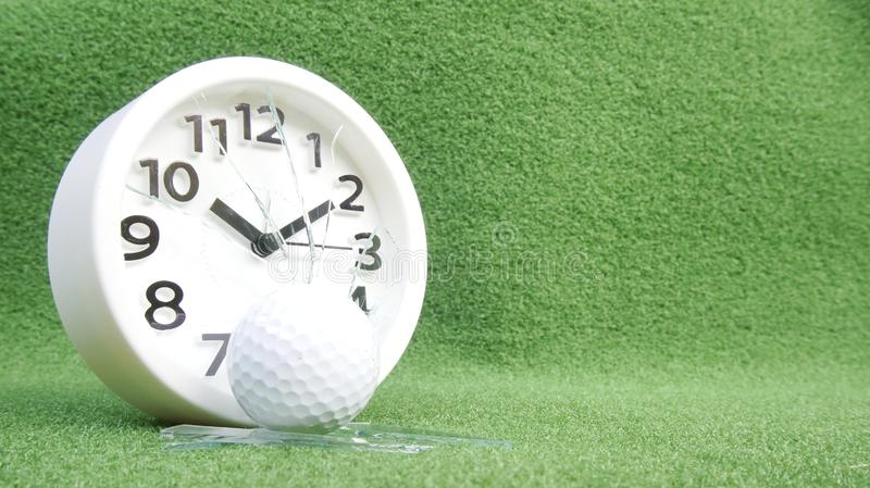 Conceptual image. Of golf as a time consuming game royalty free stock image