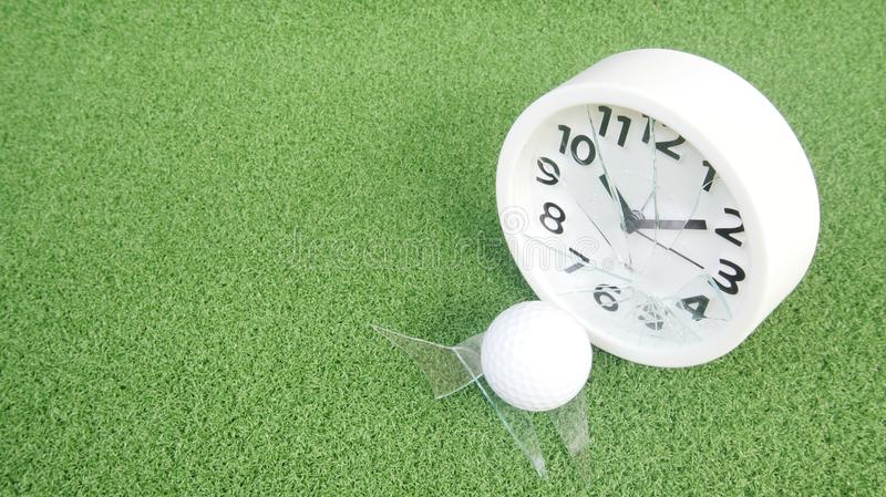 Conceptual image. Of golf as a time consuming game stock images