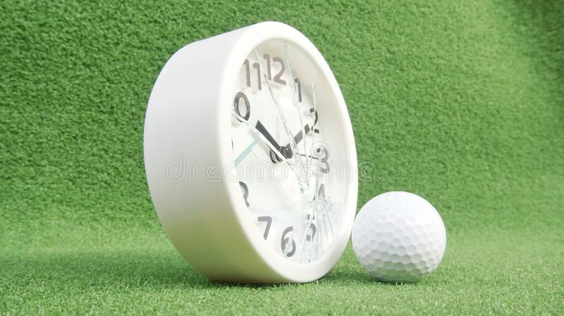 Conceptual image. Of golf as a time consuming game royalty free stock photos