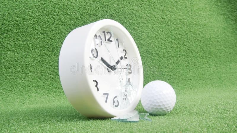 Conceptual image. Of golf as a time consuming game stock photography