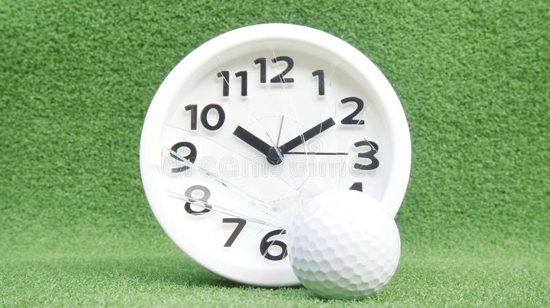 Conceptual image. Of golf as a time consuming game stock photo