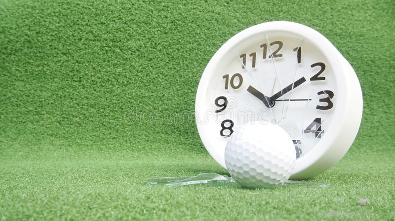 Conceptual image. Of golf as a time consuming game stock image