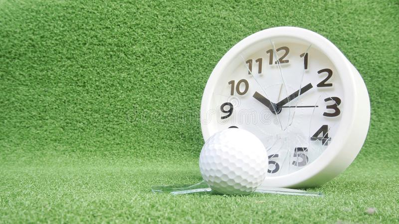 Conceptual image. Of golf as a time consuming game royalty free stock images