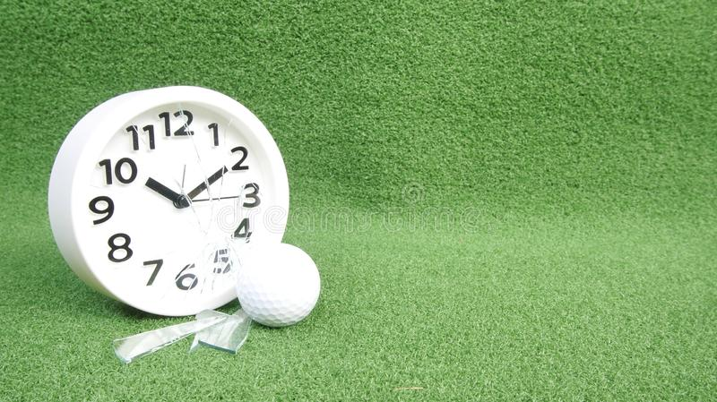 Conceptual image. Of golf as a time consuming game royalty free stock photography