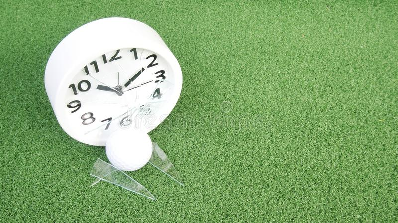 Conceptual image. Of golf as a time consuming game royalty free stock photo