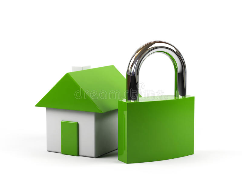 Download Conceptual Image - House Under Protection. Stock Illustration - Image: 12027899