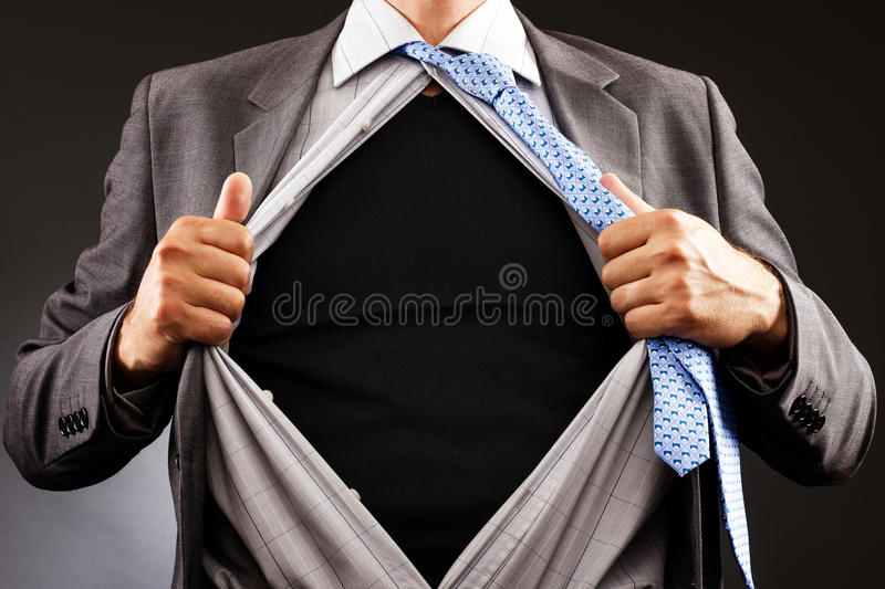 Download Conceptual Image Of A Man Tearing Off His Shirt Stock Image - Image: 31474511