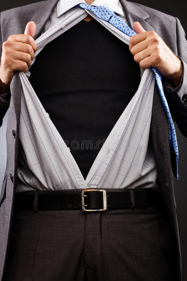 Download Conceptual Image Of A  Man Tearing Off His Shirt Stock Photo - Image: 31474552