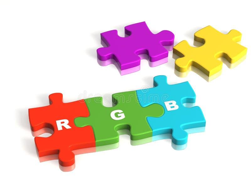 Conceptual image - a palette RGB stock illustration