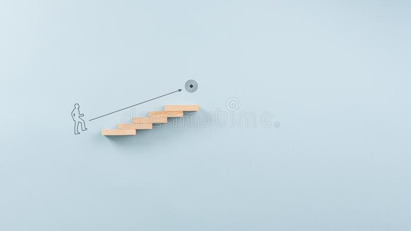 Conceptual image of personal goals and ambition stock photography