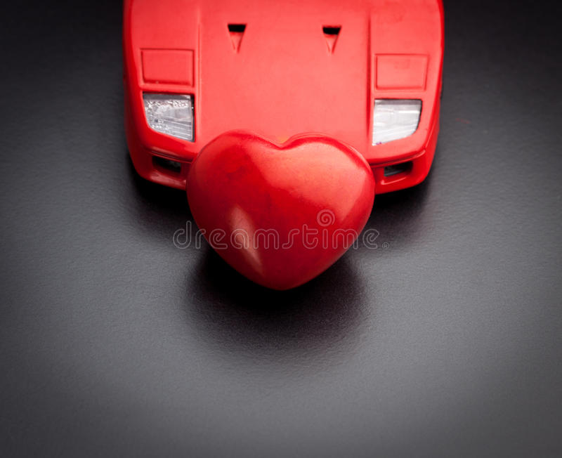 A conceptual image relating to the phrase, I love my car royalty free stock image