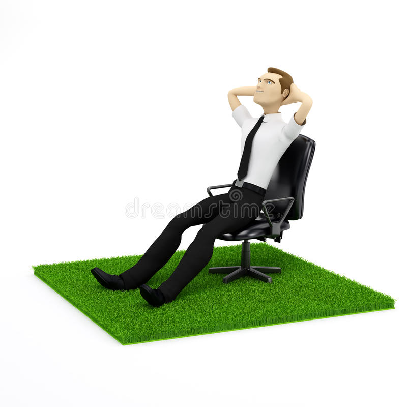 Download A Conceptual Image Of A Relaxing Businessman Stock Illustration - Image: 18609560