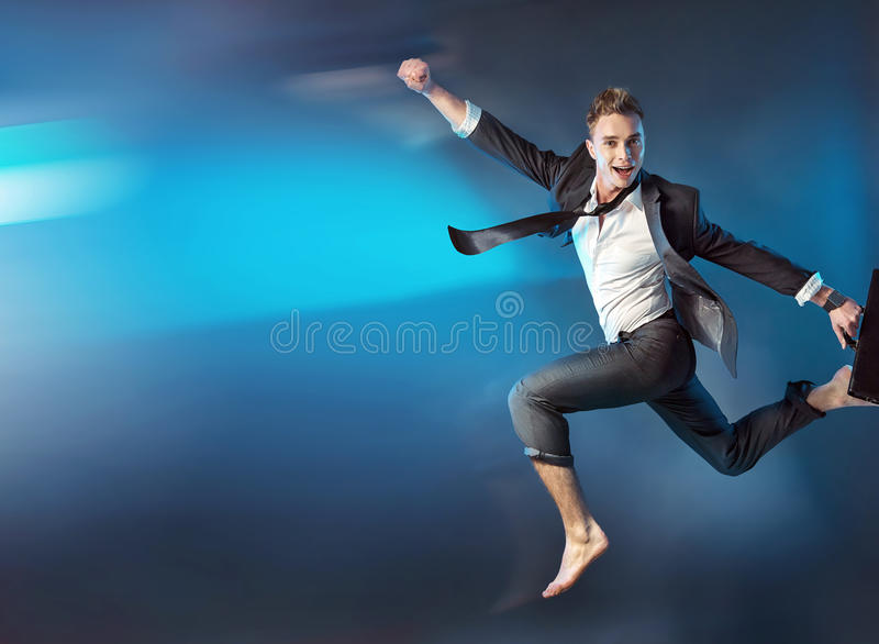 Conceptual image of a successful businessman stock photos
