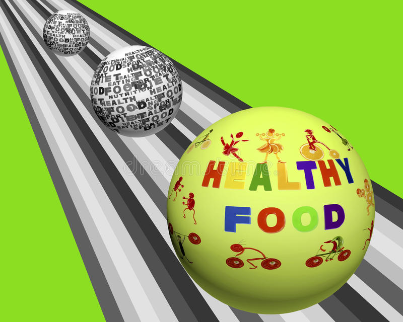 Conceptual image of tag cloud containing words related to food, stock illustration