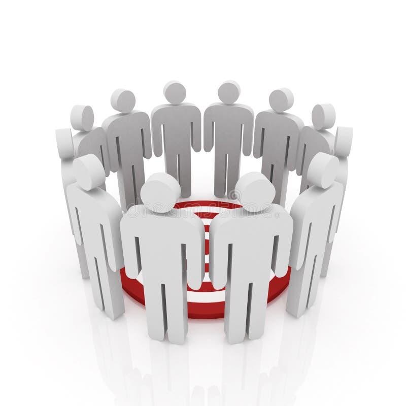 Download Conceptual Image Of Teamwork Stock Illustration - Image: 18044129