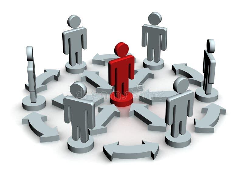 Conceptual image of teamwork. vector illustration