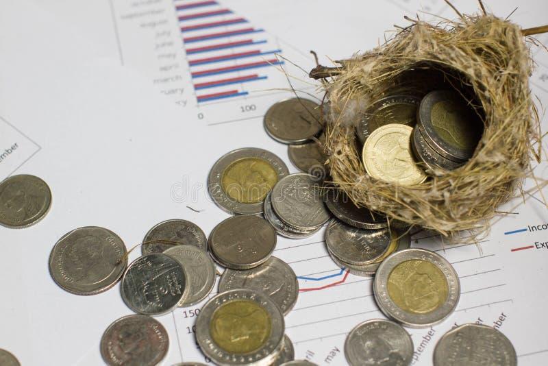 Conceptual money saving for business, stock photos