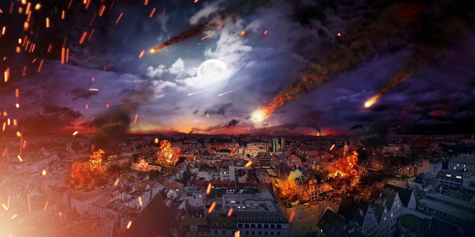 Conceptual photo of the apocalypse royalty free stock images
