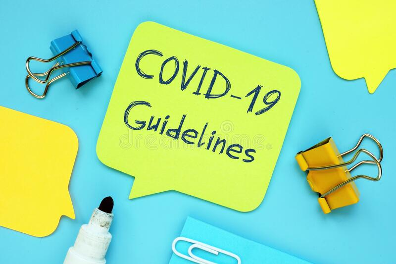 Conceptual photo about covid guidelines with written phrase.  royalty free stock photos