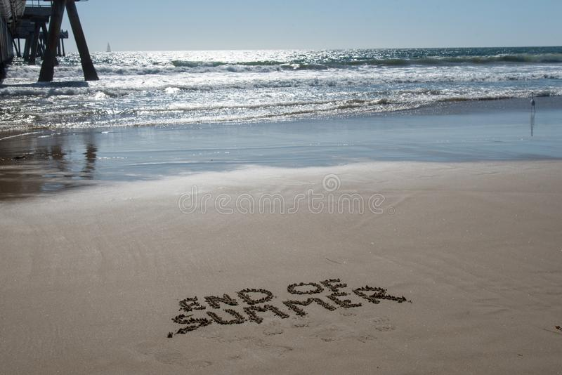 End of summer at the beach royalty free stock images