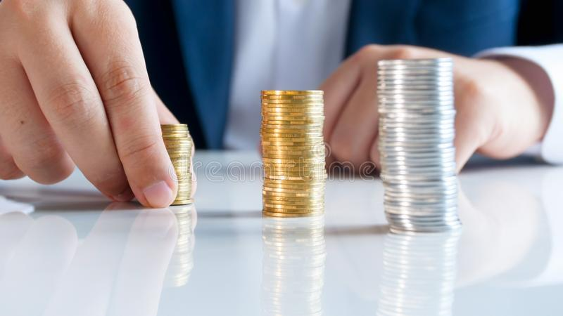 Conceptual photo of financial growth and business success. Conceptual image of financial growth and business success stock photo