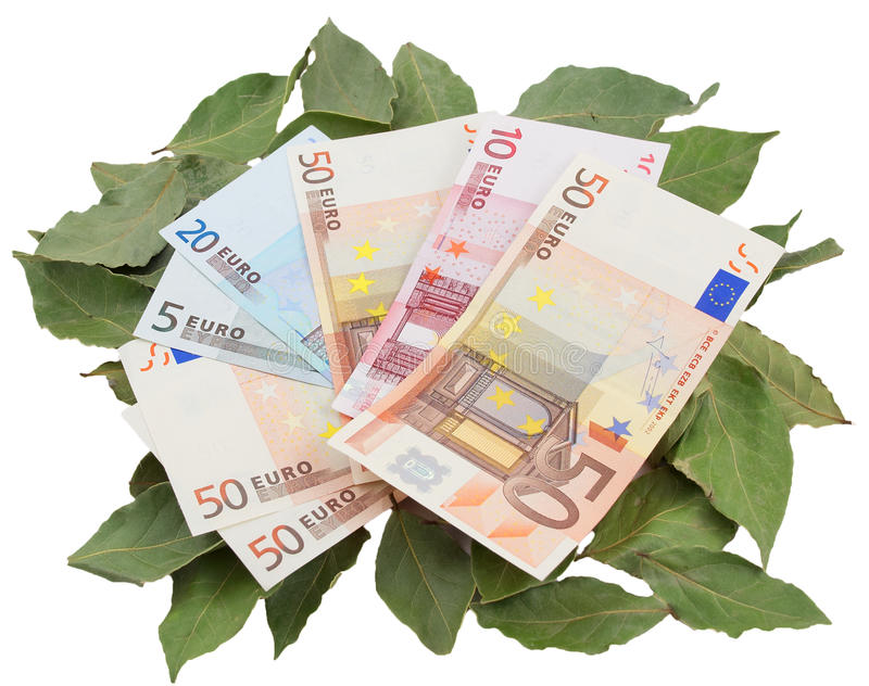 Download Conceptual Photo - Money Resting On Laurels Royalty Free Stock Photography - Image: 13252627
