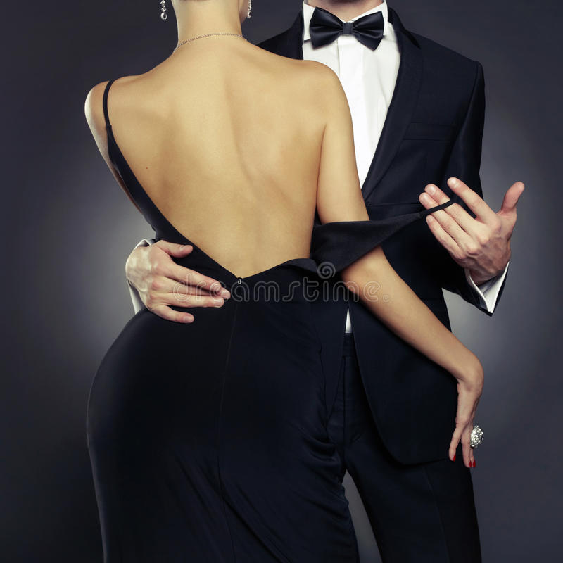 Sensual couple. Conceptual photo of elegant couple in the tender passion
