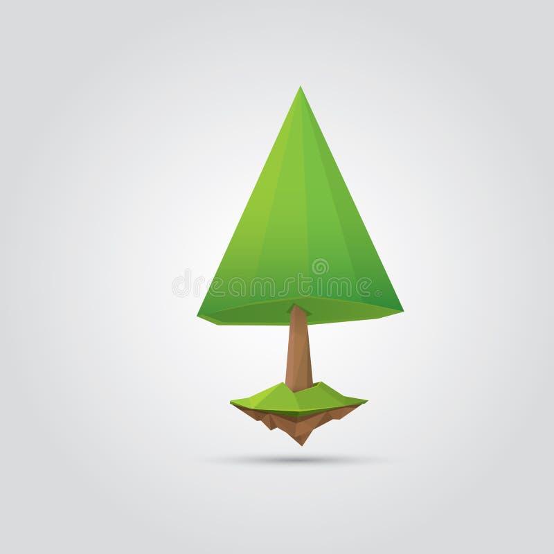 Conceptual polygonal tree. vector Illustration stock illustration